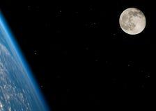 Vicino alla luna piena fotografie stock libere da diritti
