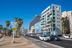 Vicino alla strada del mare a Tel Aviv Fotografie Stock Libere da Diritti