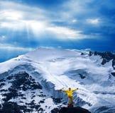 Vicino turistico un ghiacciaio Immagine Stock