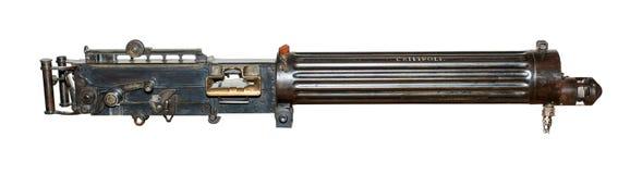 Vickers Machinegun som isoleras på vit Royaltyfri Foto