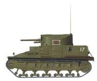 Vickers Medium Mk I. Hand drawn illustration of british early ww2 medium tank Royalty Free Stock Photo