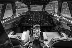 Vickers 806 Viscount Airplane interior. Royalty Free Stock Photos