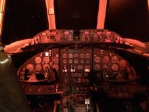 Vickers viscount cockpit. Cockpit of old Airliner vickers Royalty Free Stock Photos