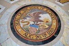 在伊利诺伊寺庙纪念碑的封印在Vicksburg 库存照片
