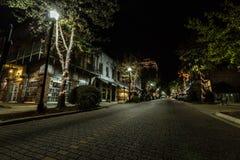 Vicksburg alla notte Fotografia Stock