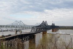 Vicksburg's Two Bridges Stock Photo