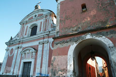 Vico cathedral. The historic baroque cathedral of vico equense in italy Stock Photography