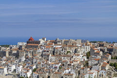 Vico del Gargano. Mountain town in the Gargano massive has a picturesque old center Royalty Free Stock Photos