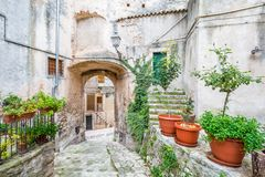 Vico del Gargano, province of Foggia, Puglia, southern Italy. Vico del Gargano is a village and comune in the province of Foggia in the Apulia region of Stock Photo