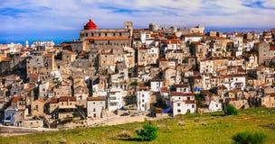 Vico del Gargano - uno del borgo más hermoso de los pueblos de foto de archivo libre de regalías