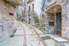Vico del Gargano, province of Foggia, Puglia, southern Italy. Vico del Gargano is a village and comune in the province of Foggia in the Apulia region of Stock Photos