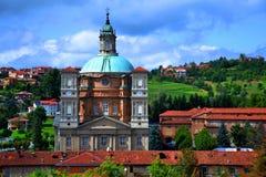 Vico Forte. Basilica di Vico Forte view from the hill Stock Image