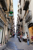 Vico tre Re a Toledo in the Spanish Quarter of Naples. Royalty Free Stock Photo