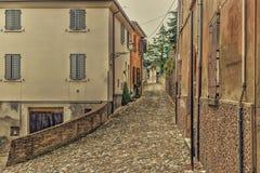 vicoli del villaggio medievale Fotografia Stock Libera da Diritti