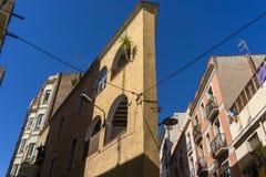 Vicoli e vie stretti di Barcellona Fotografie Stock