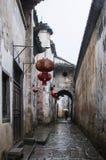 Vicolo antico Cina del villaggio Fotografia Stock