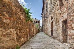 Vicolo antico in d'Elsa di Colle di Val, Toscana, Italia Fotografie Stock Libere da Diritti