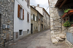 Vicolo. Bobbio. L'Emilia Romagna. L'Italia. Fotografie Stock Libere da Diritti
