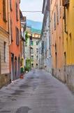 Vicolo. Bobbio. L'Emilia Romagna. L'Italia. Fotografia Stock