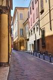 Vicolo. Bologna. L'Emilia Romagna. L'Italia. Immagine Stock Libera da Diritti
