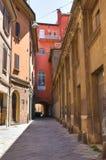 Vicolo. Bologna. L'Emilia Romagna. L'Italia. Fotografie Stock