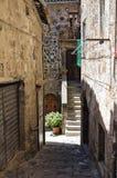 Vicolo. Bolsena. Il Lazio. L'Italia. Fotografia Stock Libera da Diritti