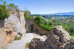 Vicolo. Civita di Bagnoregio. Il Lazio. L'Italia. Fotografie Stock
