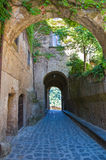 Vicolo. Civita di Bagnoregio. Il Lazio. L'Italia. Immagine Stock