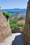 Vicolo. Civita di Bagnoregio. Il Lazio. L'Italia. Fotografia Stock Libera da Diritti