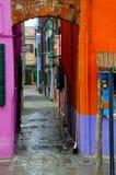 Vicolo colorato Fotografie Stock Libere da Diritti
