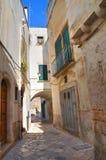 Vicolo. Conversano. La Puglia. L'Italia. Fotografia Stock Libera da Diritti