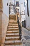 Vicolo. Conversano. La Puglia. L'Italia. Immagine Stock
