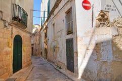 Vicolo. Conversano. La Puglia. L'Italia. Immagini Stock Libere da Diritti