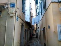 Vicolo a Corfù Fotografie Stock