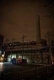 Vicolo d'annata scuro alla notte Fotografia Stock