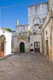 Vicolo. D'Otranto di Corigliano. La Puglia. L'Italia. Fotografie Stock