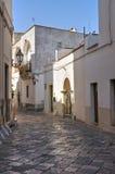 Vicolo. D'Otranto di Corigliano. La Puglia. L'Italia. Immagine Stock Libera da Diritti