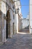 Vicolo. D'Otranto di Corigliano. La Puglia. L'Italia. Immagini Stock Libere da Diritti