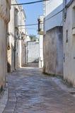 Vicolo. D'Otranto di Corigliano. La Puglia. L'Italia. Immagine Stock