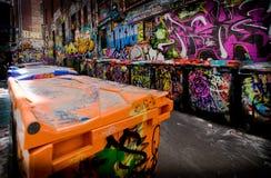 Vicolo dei graffiti Fotografia Stock Libera da Diritti
