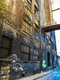Vicolo dei graffiti di Toronto fotografia stock