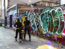 Vicolo dei graffiti di Toronto fotografie stock libere da diritti