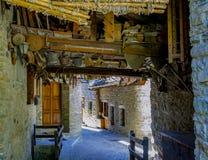 Vicolo del ` Aosta, Italia di Courmayeur Valle d fotografie stock libere da diritti