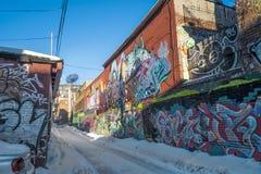 Vicolo del centro di Montreal Immagine Stock