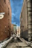 Vicolo del centro di Montreal Fotografia Stock