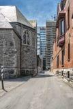 Vicolo del centro di Montreal Immagini Stock Libere da Diritti