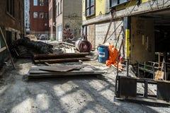 Vicolo del centro di Montreal Fotografia Stock Libera da Diritti