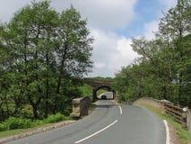 Vicolo del paese del Yorkshire fotografie stock