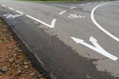Vicolo della bici fotografie stock libere da diritti