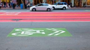 Vicolo della bici di San Francisco Immagini Stock